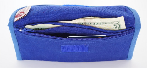 Money Bag Blue Inside