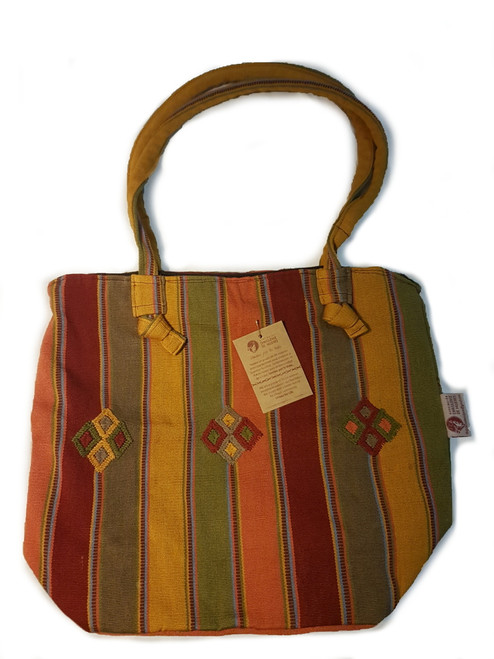 Bag with Golds and Reds - T02
