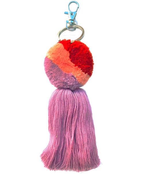 Pompom with Tassel Charm