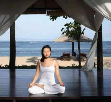Yoga Girl at the Beach