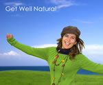 Healthy Woman Smiling and Stretching with Arms Spread Wide Image 001. Women's Health Category. Get Well Natural Herbal Supplements.