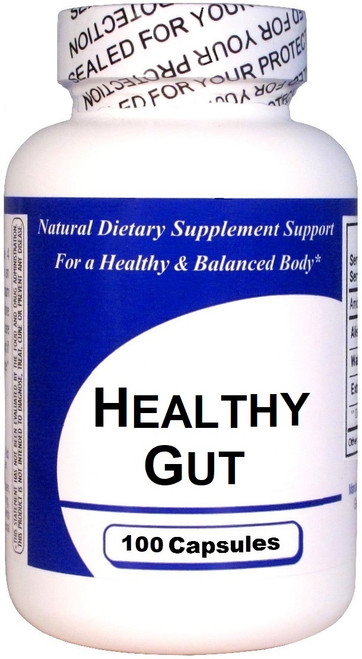 Healthy Gut Herbal Supplement Bottle Image