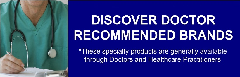 Doctor with Stethoscope and Recommended Brands Banner Image
