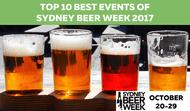Top 10 Best Events of Sydney Beer Week 2017