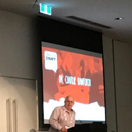 We're at the Australian Craft Brewers Conference listening to the Pope of Foam - Dr Charlie Bamforth. Inspiring.