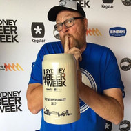 Love it - Mr Beer Personality for 201 , Pat McInerney from @willietheboatman celebrating his win at the @sydney_beer_week awards