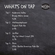 Now pouring on Growlers @ Beer Cartel HQ