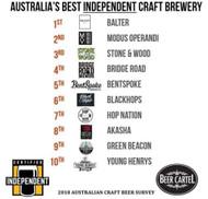 2018 Top 10 Australian Independent Craft Breweries