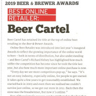 We're super stoked to have taken out Best Online Retailer in the 2019 @beerandbrewer awards!