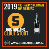 NUMBER 5 in Australia's Ultimate Top 50 Beers for 2019: Nail Clout Stout