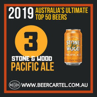 NUMBER 3 in Australia's Ultimate Top 50 Beers for 2019: Stone & Wood Pacific Ale