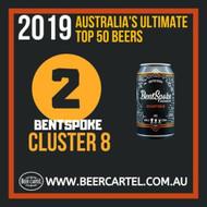 NUMBER 2 in Australia's Ultimate Top 50 Beers for 2019: BentSpoke Cluster 8 IIPA