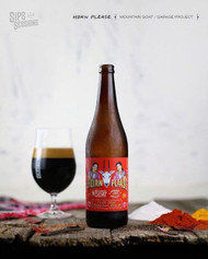 ​This is a cracking beer: Mountain Goat / Garage Project Horn Please Chili Chai Imperial Stout⠀