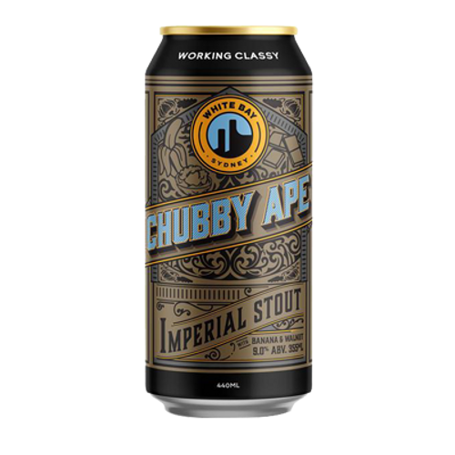 White Bay Chubby Ape Banana and Walnut Imperial Stout 440ml Can