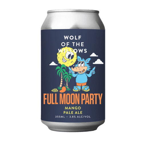 Wolf of the Willows Full Moon Party Mango Pale Ale 355ml Can