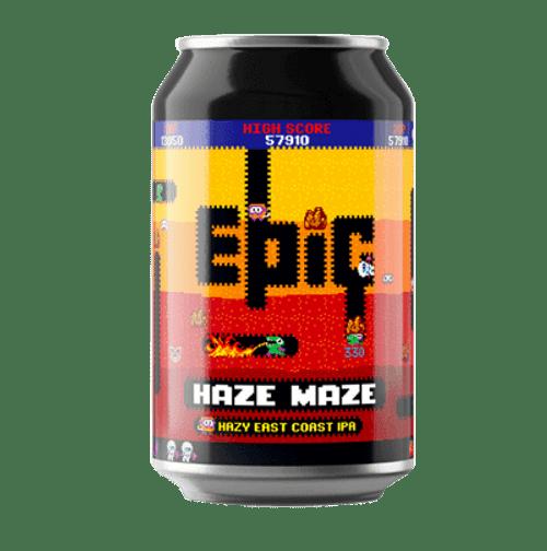 Epic Haze Maze East Coast Hazy IPA 330ml Can