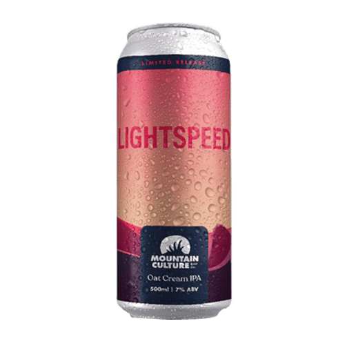 Mountain Culture Lightspeed Oat Cream with Passionfruit IPA 500ml Can