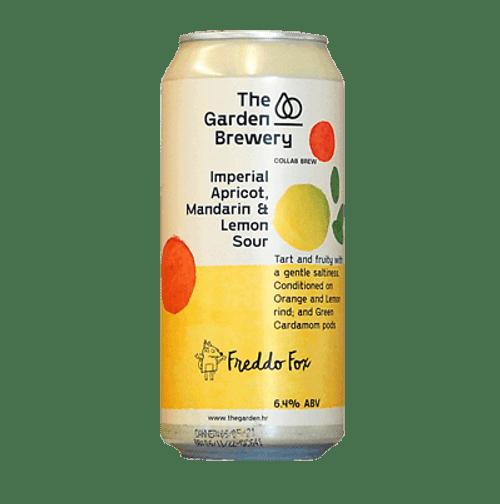 The Garden Freddo Fox Collab Sour Apricot, Lemon & Mandarin Sour Ale 440ml Can