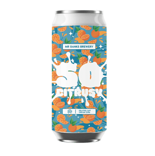 Mr Banks So Citrusy DDH Fruited Oat Cream DIPA 500ml Can