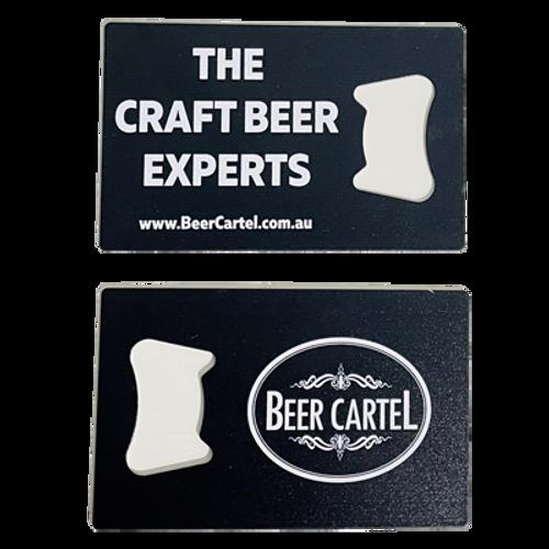 Beer Cartel Credit Card Bottle Opener