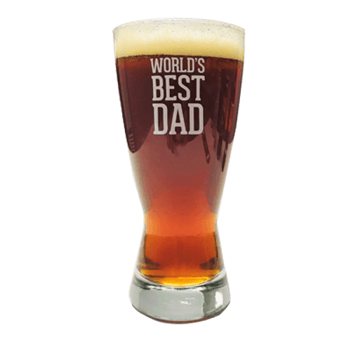 Worlds Best Dad Fathers Day Beer Glass