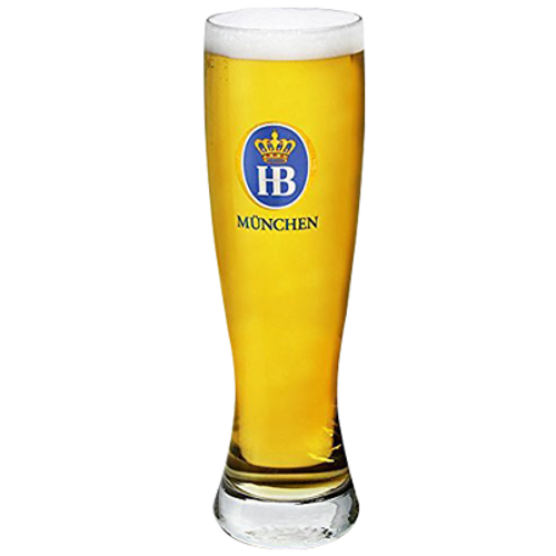Hofbrau Munchen Wheat Beer Glass 500ml
