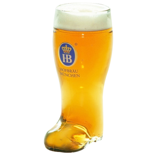 Hofbrau German Beer Boot Glass 1 Litre