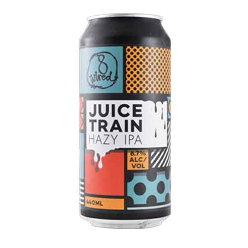 8 Wired Juice Train Hazy IPA (4 Can Limit)
