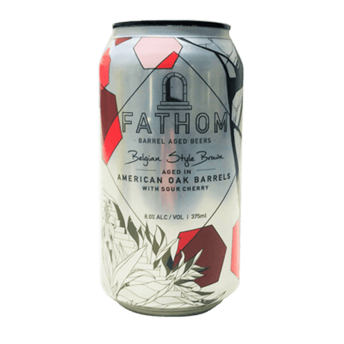 Green Beacon Fathom Belgian Style Brown Aged in American Oak Barrels with Sour Cherry