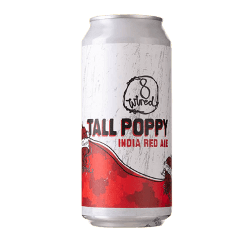 8 Wired Tall Poppy India Red Ale 440m Can