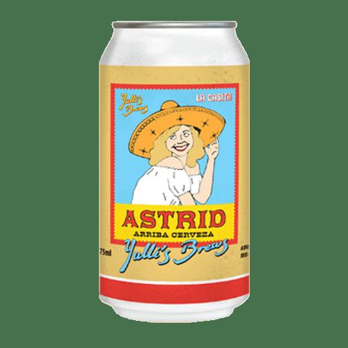 Yulli's Brews Astrid Arriba Cerveza