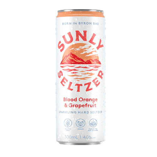 Sunly Seltzer Blood Orange & Grapefruit