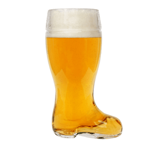 Glass Beer Boot 1 Litre Mug