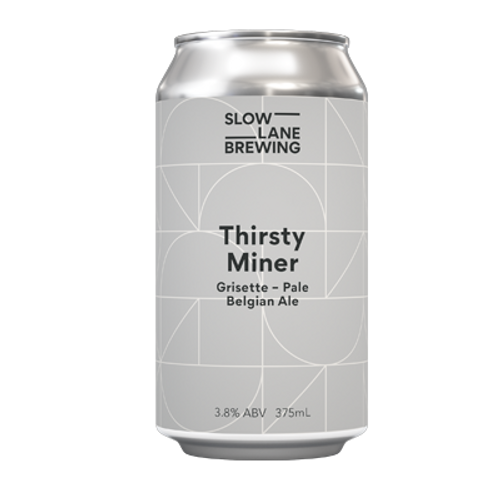 Slow Lane Thirsty Miner Grisette Pale Belgian Ale