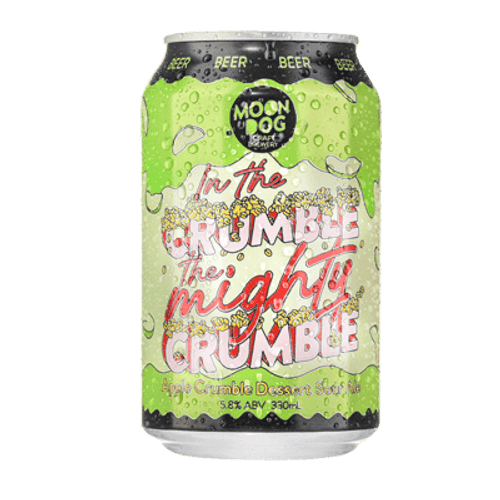 Moon Dog In the Crumble, the Mighty Crumble Apple Sour Ale 330ml Can