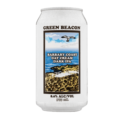 Green Beacon Barbary Coast Oat Cream Dark IPA