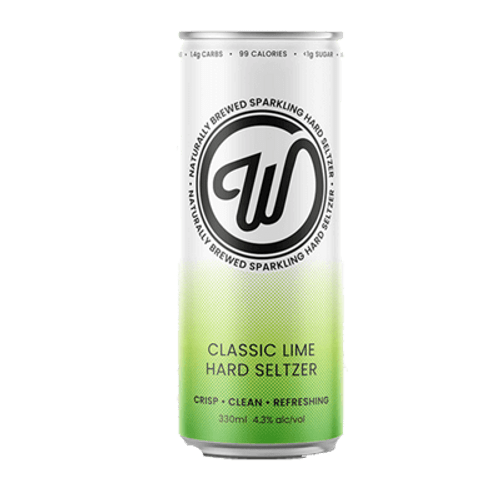 Wayward W Seltzer Classic Lime