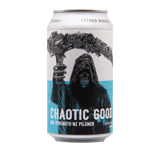 Aether Chaotic Good NZ Mid Strength Pilsner