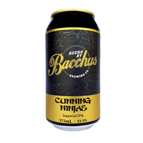 Bacchus Cunning Ninja's Imperial IPA 375ml Can