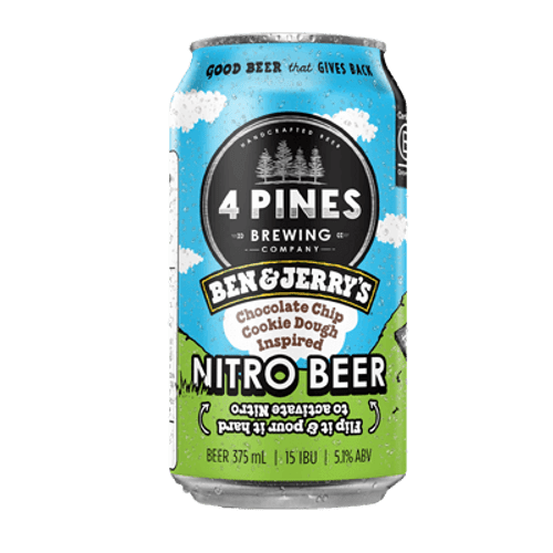 4 Pines Ben & Jerrys Chocolate Chip Cookie Dough Inspired Nitro Beer