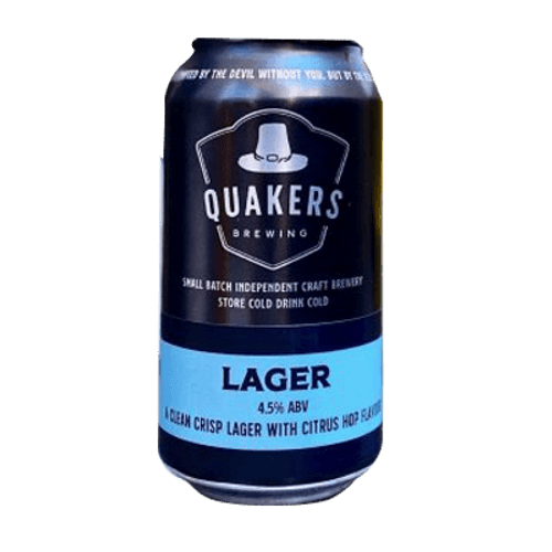 Quakers Hat Lager 375ml Can