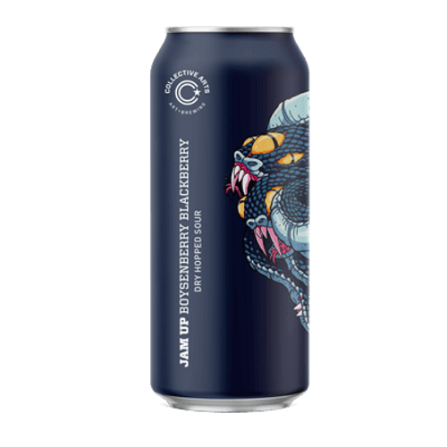 Collective Arts Jam Up The Mash Boysenberry Blackberry Dry-Hopped Sour Ale 473ml Can