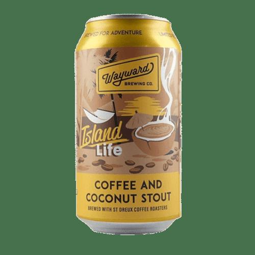 Wayward Island Coffee and Coconut Stout 375ml Can
