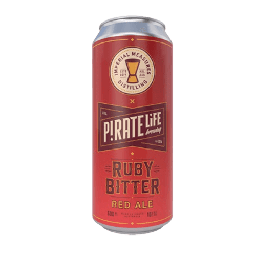 Pirate Life Ruby Bitter Red Ale 500ml Can
