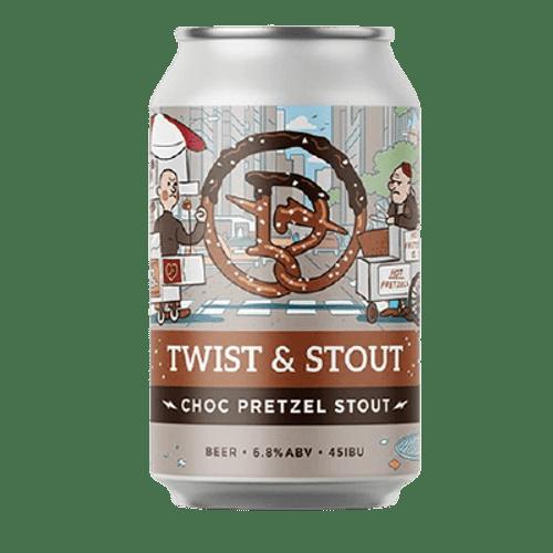 Dainton Twist & Stout Choc Pretzel Stout 375ml Can