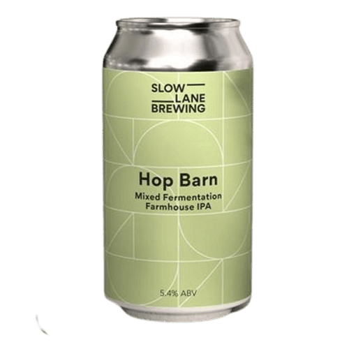 Slow Lane Hop Barn Mixed Fermentation Farmhouse IPA 375ml Can