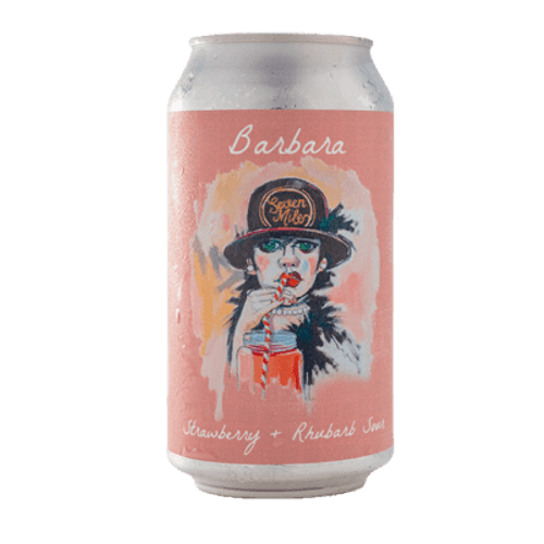 Seven Mile Barbara Strawberry and Rhubarb Sour Ale
