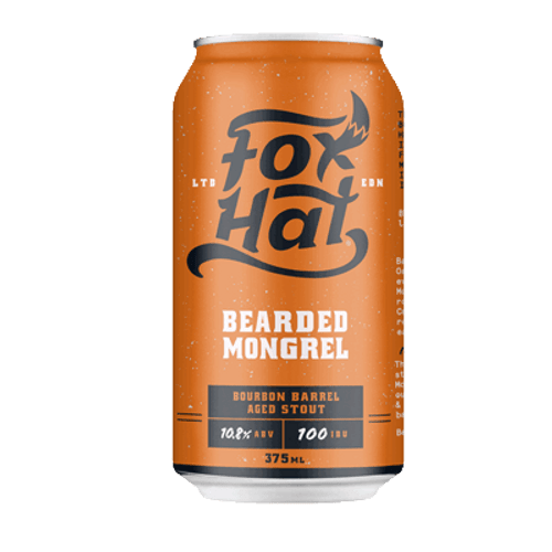 Fox Hat Bearded Mongrel Bourbon Barrel Aged Imperial Stout 375ml Can
