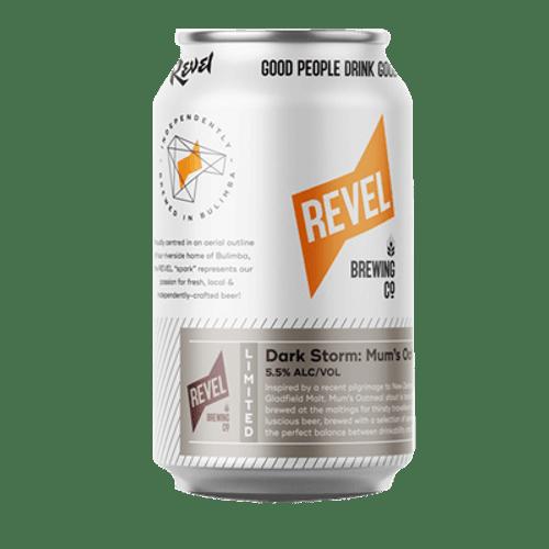 Revel Dark Storm Mum's Oatmeal Stout 375ml Can
