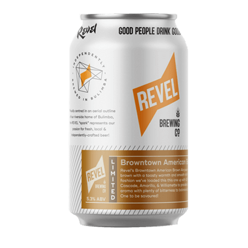Revel Browntown American Brown Ale 375ml Can
